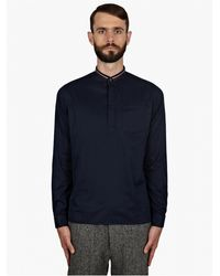 Valentino Mens Navy Brushed Cotton Polo Shirt - Lyst