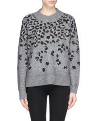 Rag & Bone 'Isadora' Leopard Intarsia Wool-Alpaca-Mohair Sweater - Lyst