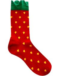 Asos Strawberry Ankle Socks - Lyst