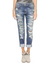 Current/Elliott The Fling Jeans - Benett Tattered - Lyst
