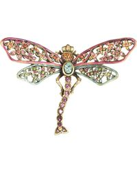 Jay Strongwater - Floral Dragonfly Pin - Lyst