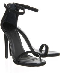 Office Parallel Square Toe Strap Sandal - Lyst