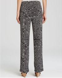 Karen Kane - Geometric Tribal Print Trousers - Lyst