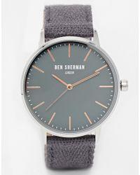 Ben Sherman Canvas Strap Watch - Lyst