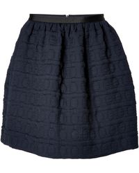 Tara Jarmon Quilted Mini Skirt - Lyst