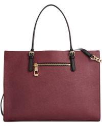 Calvin Klein Leather Satchel - Lyst