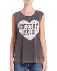 """Chaser Country Music"""" Muscle Tee gray - Lyst"""