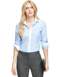 Brooks Brothers Non-iron Tailored Fit Stripe Dress Shirt - Lyst