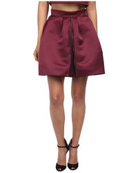 McQ by Alexander McQueen Zip Part Skirt - Lyst