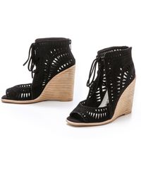 Jeffrey Campbell Rodillo Suede Wedges - Black - Lyst