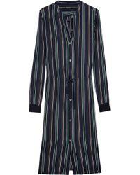 Theory Stellina Striped Silk-georgette Dress - Lyst