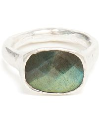 Ram - Silver And Labradorite Ring - Lyst
