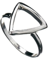 Asos Open Triangle Ring - Lyst