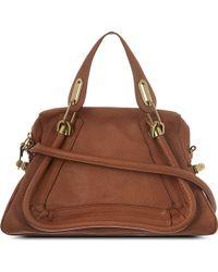 Chloé Paraty Medium Leather Shoulder Bag Speculooos Tan - Lyst