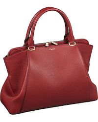 Cartier C De Leather Small Tote - For Women red - Lyst