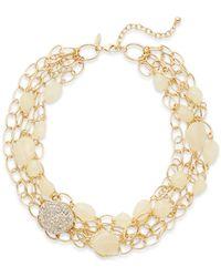 R.j. Graziano - Beaded Multi-chain Necklace - Lyst