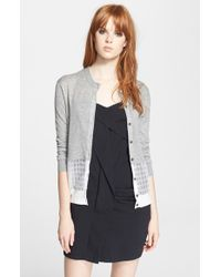 Marc By Marc Jacobs 'Papillon' Mixed Knit Cardigan - Lyst