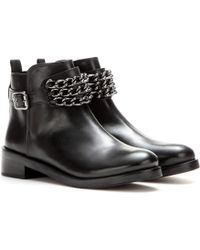 Tory Burch Bloomfield Leather Ankle Boots - Lyst