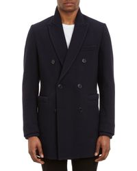 Band Of Outsiders Melton Reefer Coat - Lyst