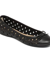 Delman Get Squared Away With This Perforated Flat - Lyst