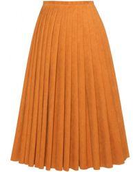 Acne Studios Kensington Pleated Skirt - Lyst