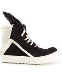 Rick Owens Geo Basket Sneakers - Lyst