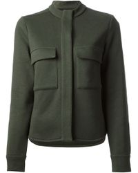 Mm6 By Maison Martin Margiela Jersey Military Jacket - Lyst