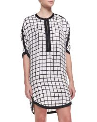 Etoile Isabel Marant Womens Odea Windowpane Check Dress - Lyst