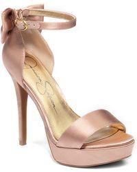 Jessica Simpson Bowie Satin High-Heel Sandals - Lyst