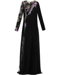 Nina Ricci Iris-embroidered Lace and Silk Dress - Lyst