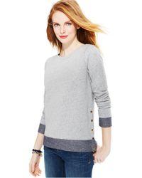 Tommy Hilfiger Button-trim Sweater - Lyst
