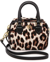 Tory Burch Robinson Leopard Haircalf Satchel - Snow Leopard - Lyst