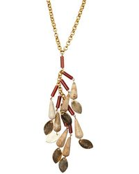 Wendy Mink | Carnelian And Brown Agate Cluster Necklace | Lyst