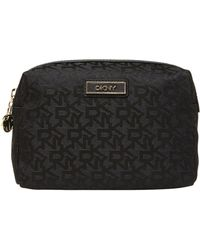 DKNY Saffiano Black Cosmetic Case - Lyst
