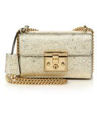 Gucci | Padlock Metallic Shoulder Bag | Lyst