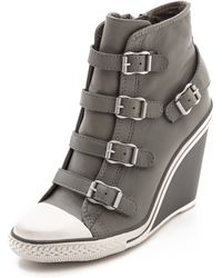 Ash Thelma Wedge Sneakers Stone - Lyst