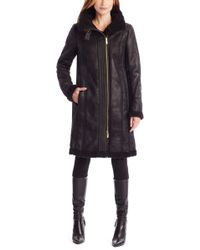 BOSS Orange - Ojassi | Faux Leather And Shearling Coat - Lyst