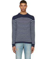 Diesel Navy And White K_Boletus Sweater - Lyst