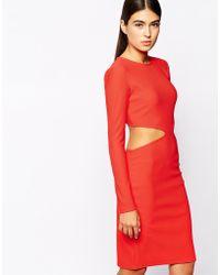 AQ/AQ Aliana Backless Mini Dress With Cut Outs - Lyst
