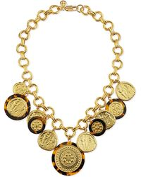 Tory Burch Shiloh Statement Necklace gold - Lyst