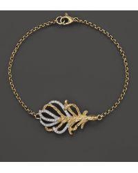 John Hardy Women'S 18K Gold Classic Chain Feather Diamond Pavé Station Slim Bracelet - Lyst