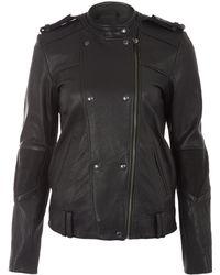Francis Leon - Black Vulko Leather Biker Jacket - Lyst