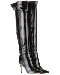 Gianvito Rossi Over-the-knee Patent Leather Boots - Lyst