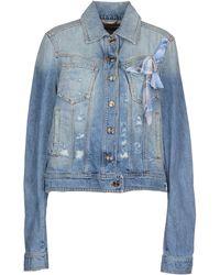 John Galliano Blue Denim Outerwear - Lyst