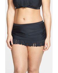 Jessica Simpson 'Desert Fringe' Skirted Bikini Bottoms - Lyst