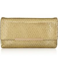Christian Louboutin Rougissime Metallic Coated Suede Clutch - Lyst