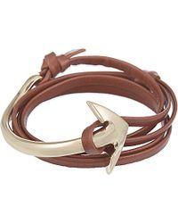 Miansai Leather Anchor Bracelet - For Men - Lyst