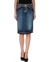 DSquared2 Denim Skirt - Lyst