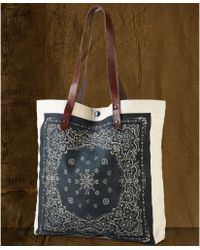 Denim & Supply Ralph Lauren - Leatherstrap Bandanaprint Canvas Tote - Lyst
