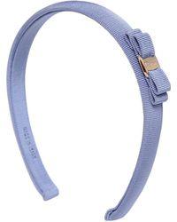 Ferragamo Grossgrain Headband With Bow blue - Lyst